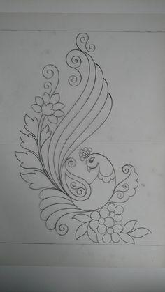 Hand Embroidery Design Patterns, Kurti Embroidery Design, Embroidery Stitches Tutorial, Embroidery Flowers Pattern, Hand Embroidery Stitches, Embroidery Techniques, Ribbon Embroidery, Flower Art Drawing, Fabric Painting