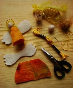 When I was about we went to Denmark just before the holidays, on our way to visit my family in Scotland. It was such an exciting tri. Waldorf Crafts, Waldorf Toys, Felt Angel, Felt Fairy, Angel Crafts, Clothespin Dolls, Penny Rugs, Felt Ornaments, Angel Ornaments