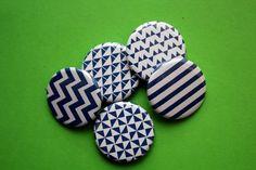 Set 5 Magnete, Kühlschrankmagnete, Küche, blau-weiß, von stuudio von stuudio auf Etsy