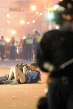 I find the Vancouver riot kiss really romantic, even despite the circumstances.