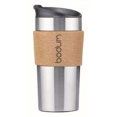 Bodum Travel Mug, Travel Mugs, Coffee Travel, Cork Wood, Vacuum Flask, Stainless Steel Travel Mug, Container, Tableware, Band
