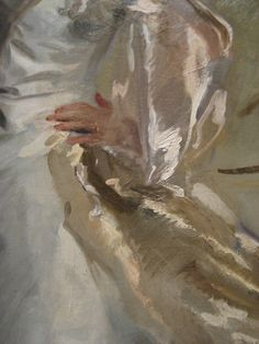 I like Sargent a great deal, whether it's his formal portraits, his oil travel sketches or his water colors. This detail shows a bit of why I like him--he can create great detail with a few brush strokes. I am sure he learned that from Rembrandt. Figure Painting, Painting & Drawing, Painting Inspiration, Art Inspo, Maria Jose, Classical Art, Art Graphique, Painting Lessons, Oeuvre D'art