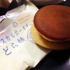 マスカルポーネチーズのどら焼き( ´ ▽ ` )ノウマし!