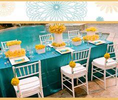 blue & yellow wedding color inspiration