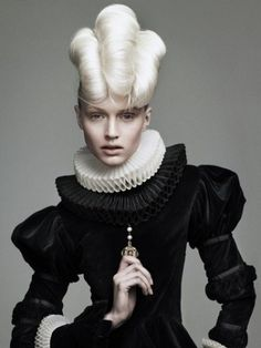 Victorian and avant-garde style funky updo