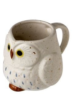 Owl Warm and Cozy Mug, #ModCloth I know this isn't clothing but this was actually my very first MC purchase. I bought two. They match my teapot from Anthropologie. :)