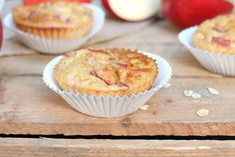 Siese leckeren Apfel Zimt Muffins schmecken sooo gut und sind wirklich schnell zubereitet! Dazu sind sie noch gesund und enthalten wichtige Nährstoffe!
