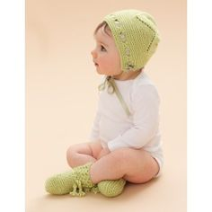 Free Intermediate Baby's Booties Knit Pattern