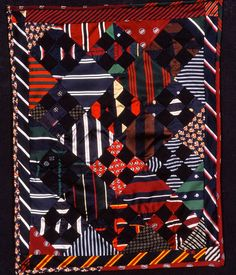Judge's Ties by Louise Silk at Silk Quilt, posted at Quilt Inspiration: Necktie quilts for Dad