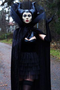 Maleficent / Halloween (by Elin Engström) http://lookbook.nu/look/4239601-Maleficent-Halloween