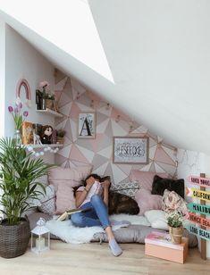 Teen Playroom, Teen Room Decor, Room Ideas Bedroom, Girls Bedroom, Bedroom Decor, My New Room, My Room, Teenage Room, Loft Room