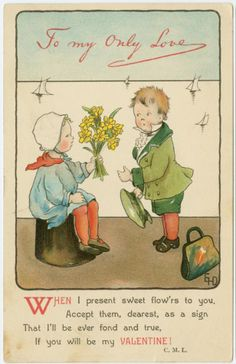 Most of these vintage turn-of-the-last-century Valentine's Day cards are very sweet. Some not so much!