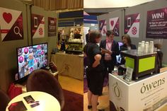 dv8media client, Owens Coffee joined us to serve coffee on our stand at the Plymouth Business Show