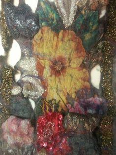 Handfelted shawl.Nuno. by Beata Jarmolowska