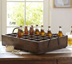 PB Found German Beer Crates German Beer Brands, Home Goods Decor, Wood Crates, Contemporary Decor, Crate And Barrel, Wood And Metal, Country Decor, Home Accents, Brewery