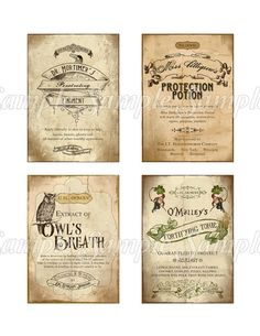 Halloween Apothecary Labels for Bottles by CuriousCrowCreative, $4.25