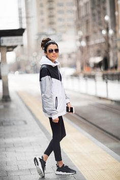 To go to and from your workout on colder days, grab a color-block jacket. Let DailyDressMe help you find the perfect outfit for whatever the weather!