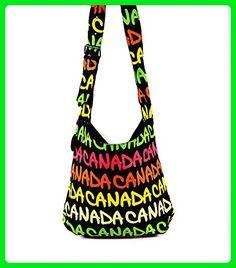 Robin Ruth - Neon Canada Print Adjustable Shoulder Bag - Shoulder bags  ( Amazon Partner-Link) caa12b3856387