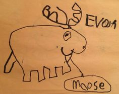 Moose - Permanent Marker drawing by EB Lent age ?