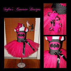 Batman superhero girly costume black and by SofiasCoutureDesigns, $59.00