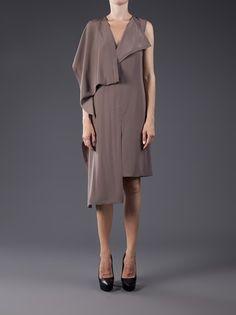MAISON MARTIN MARGIELA - draped tonal overlay dress