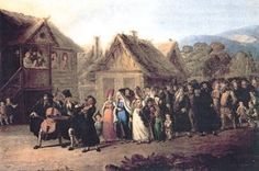 Russian Jewish Wedding, an oil painting by Wincenty Smokowski 1797-1876