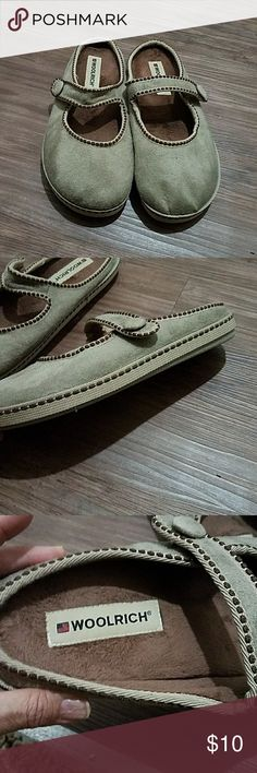 Woolrich Shoes Camel color house shoes used once really comfortable and warm size is M 8.5-9.5 Woolrich Shoes Slippers