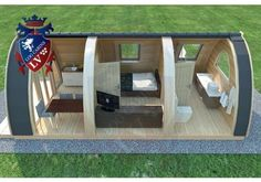 Camping pods with kitchenette