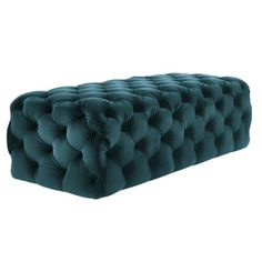 AI XIN Modern Button-Tufted Ottoman Shoe Stool Bench, Rectangle Footrest with Upholstered Seat for Coffee Side Table Vanity Dressing Chair Shoe Bench Bed End (Color : Green, Size : Tufted Ottoman, Upholstered Bench, Velvet Footstool, Ottoman Bench, Velvet Color, Green Velvet, Black Velvet, Affordable Home Decor, Cheap Home Decor