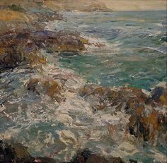 Cap Ferrat Coast by Derek Penix Oil ~ 24 x 24