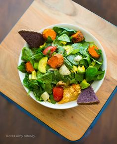Sweet Potato Tahini- Maple Greens Salad