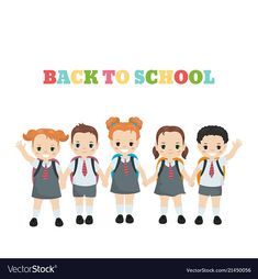 Happy school kids happy school kids vector image on VectorStock Kids Vector, Vector Free, School Kids, Back To School, Adobe Illustrator, Royalty, Pdf, Illustration, Happy