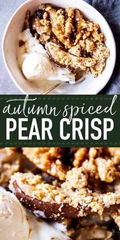 Pear Crisp is a simp