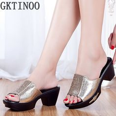 Women Sandals 2017 Ladies Summer Slippers Shoes Women high Heels Sandals Fashion Rhinestone summer shoes new arrived S055
