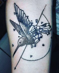 my new tattoo .... geometrical hummingbird... by jaydra87 on DeviantArt