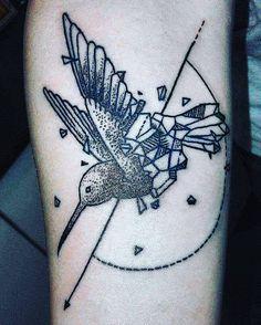 my new tattoo .... geometrical hummingbird... by jaydra87 on DeviantArt