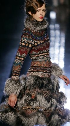 Jean-Paul Gaultier | Knit & Fur Dress