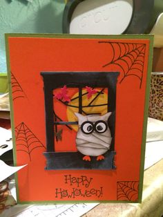 HaLLoWeeN OwL PuNCH CaRD