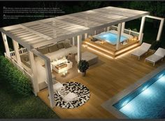 Pool and outdoor lounge Pool and outdoor lounge, ., Outdoor pool and lounge Outdoor pool and lounge, room Although early with principle, the pergola has become going through a contemporary renaissance. Jacuzzi Outdoor, Outdoor Balcony, Outdoor Pergola, Backyard Pergola, Outdoor Lounge, Backyard Landscaping, Outdoor Living, Rooftop Garden, Pergola Kits