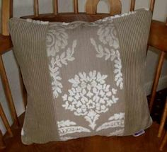 Whipped Cream Cushion made using Designers Guild textured velvet and caramel corded velvet side panels. Made as a size of 14 inches square Cream Cushions, Velvet Cushions, Designers Guild, Side Panels, Whipped Cream, Three Dimensional, Caramel, Throw Pillows, Texture