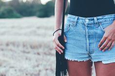 denim & espadrilles - tinera Vintage Jeans, Denim Shorts, Blog, Beautiful, Women, Fashion, Reach In Closet, Moda