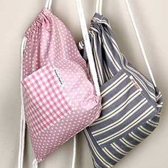 How to make a simple gym bag :: Free sewing pattern :: allaboutyou.com