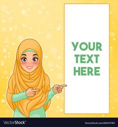 Young muslim woman wearing hijab veil pointing finger to the left side at copy s. Tired Cartoon, Free Vector Images, Vector Free, Happy Old Man, Foto Frame, Student Cartoon, Pointing Fingers, Hijab Cartoon, Muslim Family