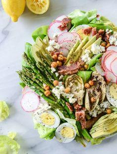springtime cobb salad I howsweeteats.com