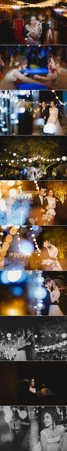 Casamento, iluminação de casamento, luzes de quermesse, fotos de casamento lindas, casamento ao ar livre à noite.