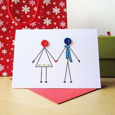 'christmas couple in love' christmas card by mrs l cards | notonthehighstreet.com