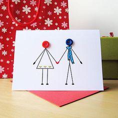 'Christmas Couple In Love' Christmas Card