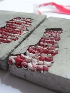 Cement and textiles Textile Fiber Art, Textile Artists, Concrete Art, Cement Art, Design Textile, Textiles Techniques, Kintsugi, Fabric Manipulation, Soft Sculpture