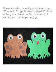 Frog and Toad Craft Project - Megan Mitchell - TeachersPayTeachers.com Freebie