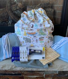 Fort Kit Bear   Etsy Fort Kit, Unique Gifts For Kids, Wooden Clothespins, Twin Sheets, Plastic Clips, Tie Colors, Build Your Own, Clean Up, Small Bags